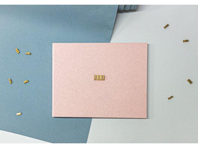 Textilní fotoalbum s ražbou textu - malé