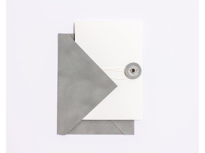 Krémové přání s šedým kolečkem