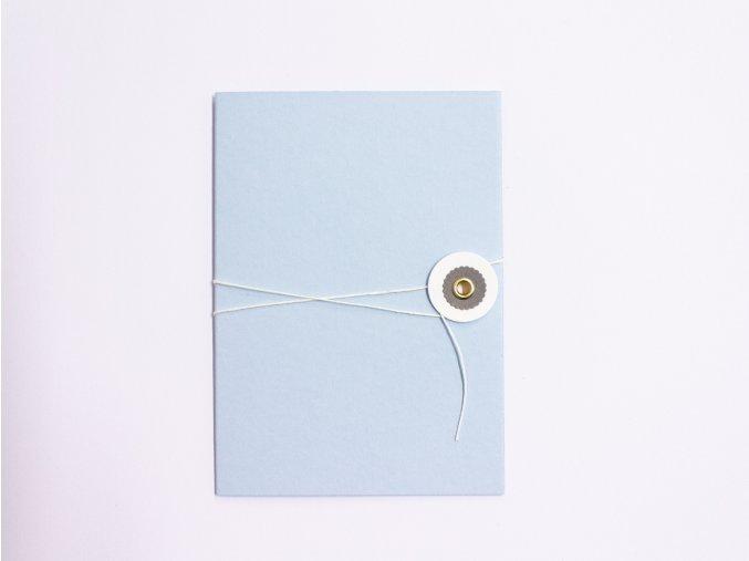 Modré přání s šedým kolečkem
