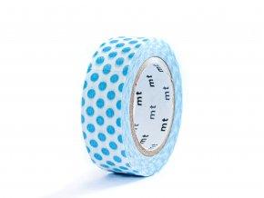 washi pasky 0016 modre puntiky
